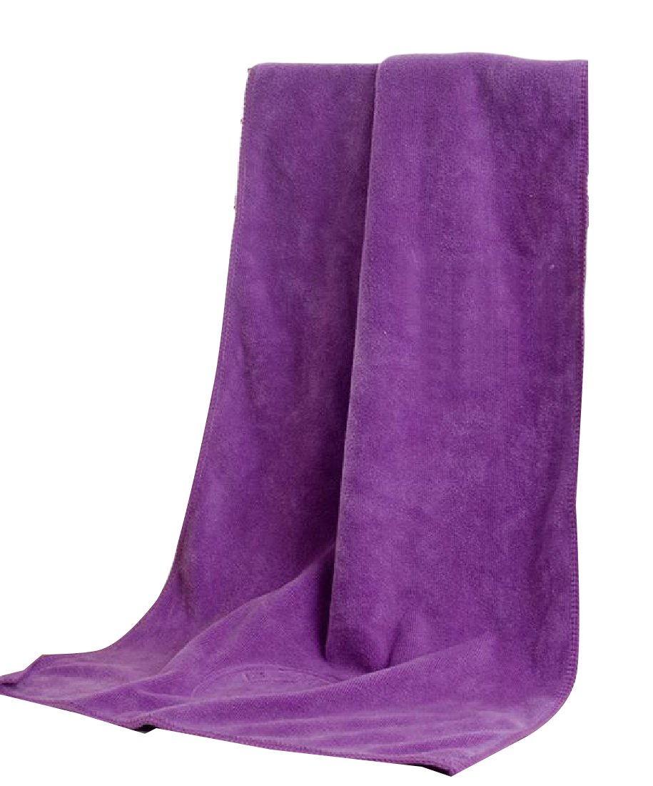 Zimaes Microfiber Lint-Free Super Absorbent Multi-purpose Thick Dusting Cloth Purple OS