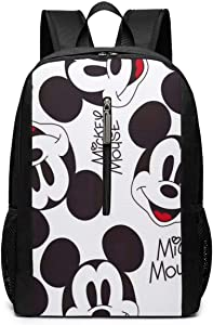 Backpack 17 Inch, Cute Mickey Mouse Large Laptop Bag Travel Hiking Daypack For Men Women School Work
