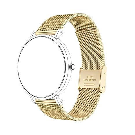 HappyTop Reloj Banda Correa de Reloj de Acero Inoxidable magnético, 14 mm para Daniel Wellington