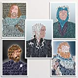 "Game of Thrones 5x7"" print set 
