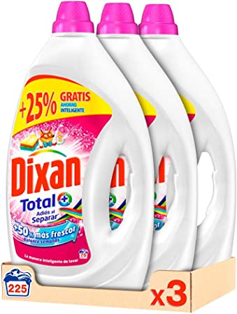 Dixan Detergente Líquido Adiós Al Separar 75 Lavados - Pack de 3, Total: 225 Lavados