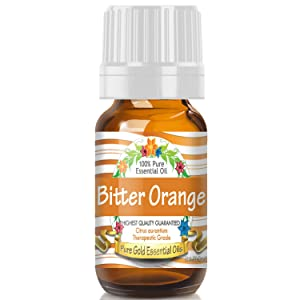 Pure Gold Bitter Orange Essential Oil, 100% Natural & Undiluted, 10ml