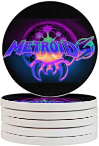 Super Metroid Game Funny Coasters, Multi-Purpose Diatomite Coasters, Protect Furniture from Water Marks Scratch and Damage(1pcs-6pcs)