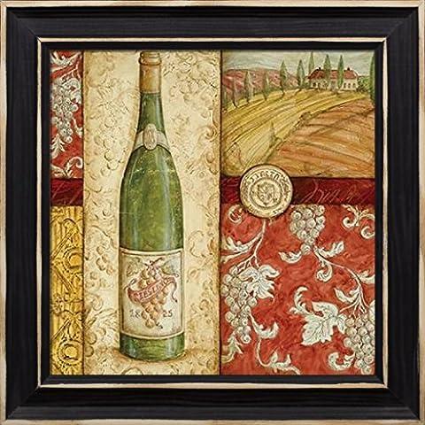 Fine Framed Art: Italian Wine Collage by McRostie, Kate - Work Pinot Gris Wine