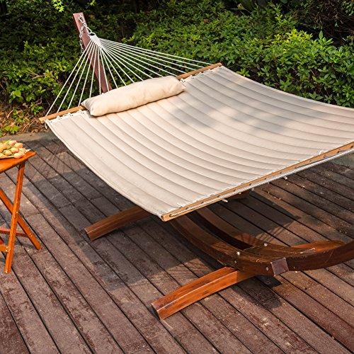 Lazydaze hammocks 55 double quilted fabric hammock swing for Fabric hammock chair swing
