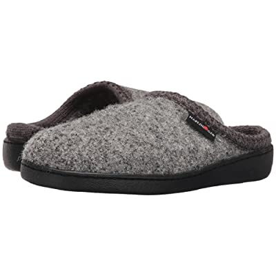 HAFLINGER AT CLASSIC HARDSOLE SLIPPER GREY SPECKLE 38 | Slippers
