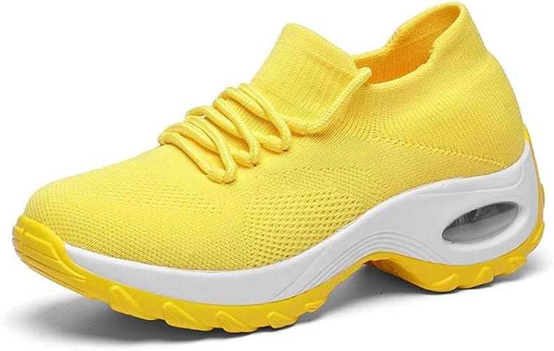 Zapatillas de Plataforma para Mujer Color sólido Tejido ...