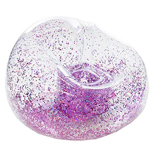 Glitter BloChair Inflatable Pink Holographic Glitter Chair