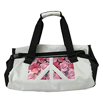 SPOROWJD Fitness Hombro Gym Bag Floral para Bolsas De Entrenamiento  Impermeables Hombres Mujeres Bolsos De Viaje White  Amazon.es  Deportes y  aire libre 4b814b5fe6d4a
