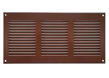 Abluftgitter mit Insektenschutz Wetterschutzgitter inox 260x190 mm Edelstahl- L/üftungsgitter mr2619i