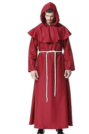 edca293d2b Friar Medieval Hooded Monk Renaissance Priest Robe Costume Cosplay   Amazon.co.uk  Clothing