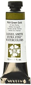 DANIEL SMITH Extra Fine Watercolor 15ml Paint Tube, Rich Green Gold