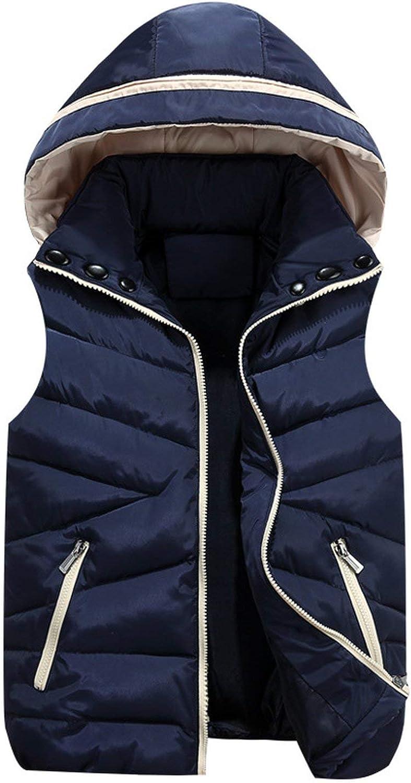 Donne Gilet Gilet Cardigan Giacca Casual Slim Caldo Senza Maniche Parka Outwear Blu