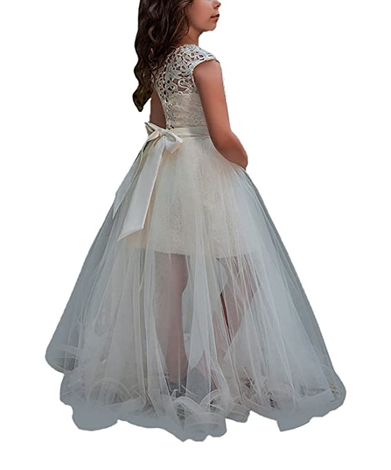 Amazon.com: Magicdress Holy 2018 Two Piece Long Girls Christening Dresses First Communion Gown Wedding 51: Clothing