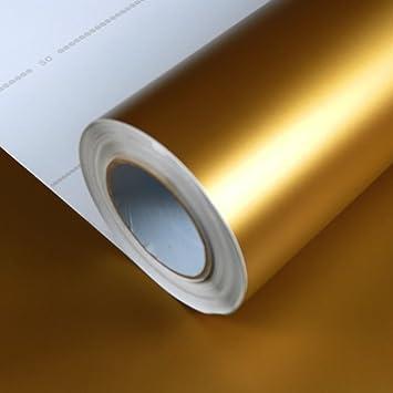 Allvi Wrapping Film Folie Matt Gold Car Wrapping Auto Folie: Amazon ...