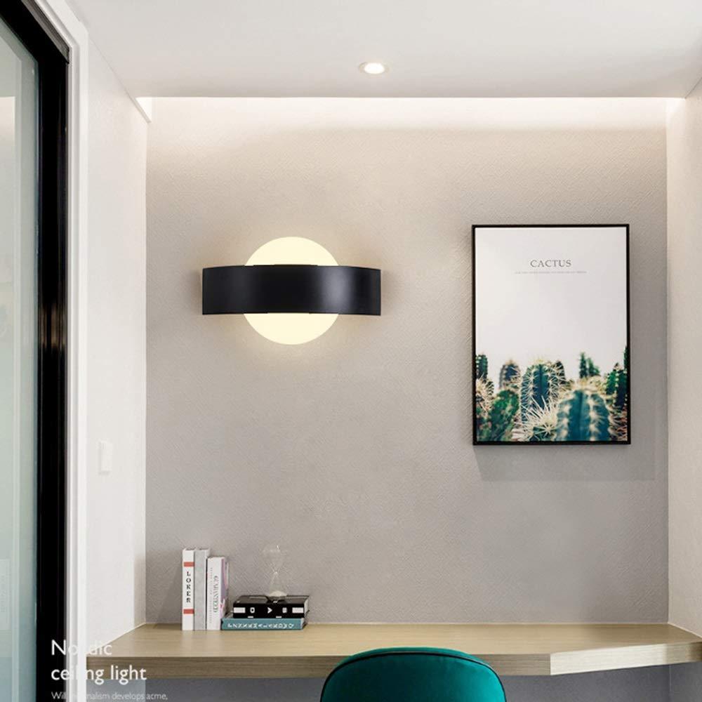 MQW Noir Et Blanc Moderne Minimaliste Créatif Lampe De Mur ...