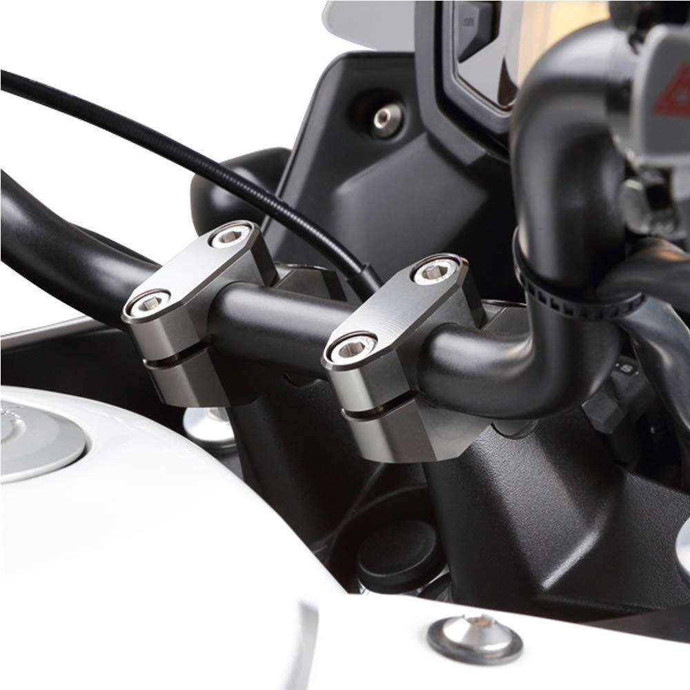 LIWIN-Moto Accesorios For BMW R1200R F800S F800ST R1150R G310R G310GS R1150R 22mm 7//8 manillar Risers montaje de barras est/ándar Riser se remontan Movido Color : Silver