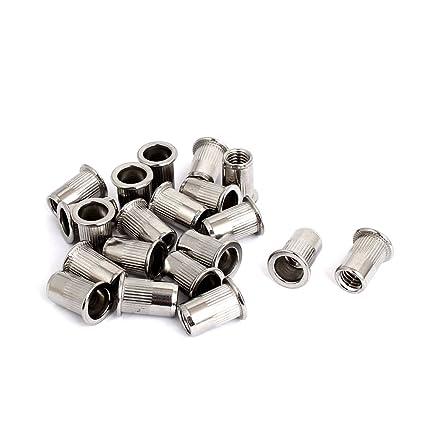 Remache Sourcingmap de 8 mm, rosca, Acero inoxidable 304, tuerca para Insertar, Nutsert, 20 piezas