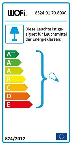 Glanz Dieser Artikel ist f/ür E14 Leuchtmittel aller Energieeffizienzklassen geeignet Metall 32 Schirm CESENA Tischleuchte 1-flammig : Hellblau