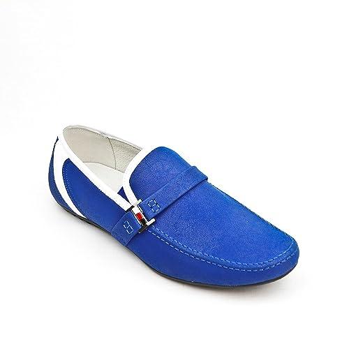 UOMO Design - Mocasines Hombre, Color Azul, Talla 39 EU