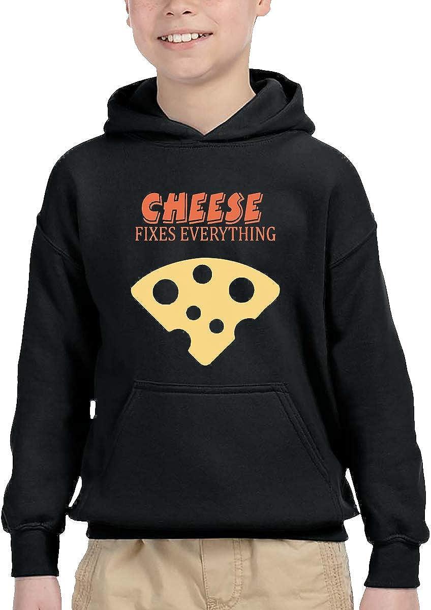 Sakanpo Cheese Fixes Everything1 Pullover Hoodie Sweatshirt Teens Hooded for Boys Girls