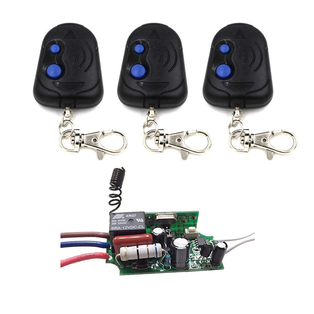 433MHZ New 220V AC Receiver Transmitter Light Lamp LED Remote Control Switch Power Wireless ON Off Key Switch Lock Unlock 315 433MHZ  (color  433MHZ)