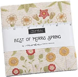 Best of Morris Spring Charm Pack by Moda; 42-5 Inch Precut Fabric Quilt Squares