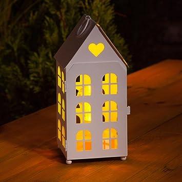 Noma Metal House Lantern With Warm White Leds Filament Bulb 24 Cm