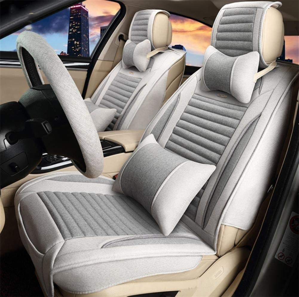 カーカーシートプロテクター用シートカバー 健康車のクッションセットリネンデラックス版(12セット)5つの一般的な車のクッションカバー四季の普遍的な5色のオプション、#32 カーシートクッションカーシートマット (色 : #30) #30