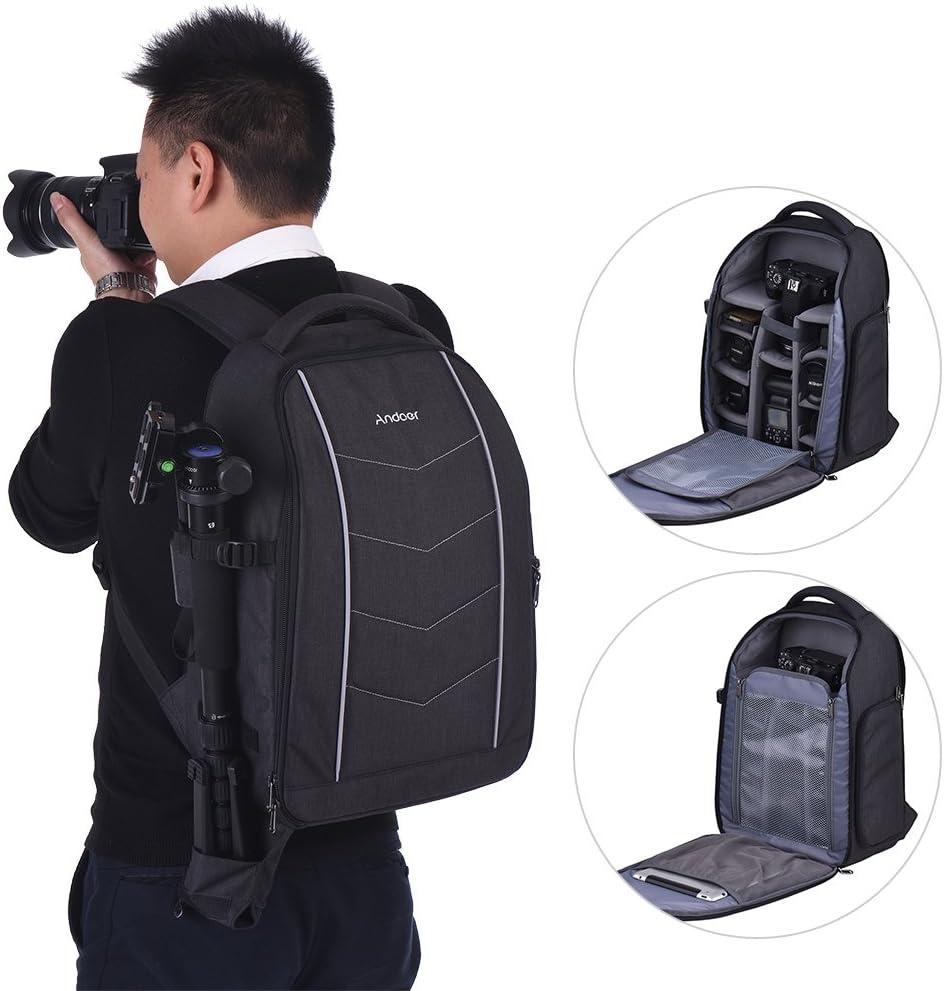 Andoer Large DSLR Camera Backpack Shoulder Bag for 2: Amazon