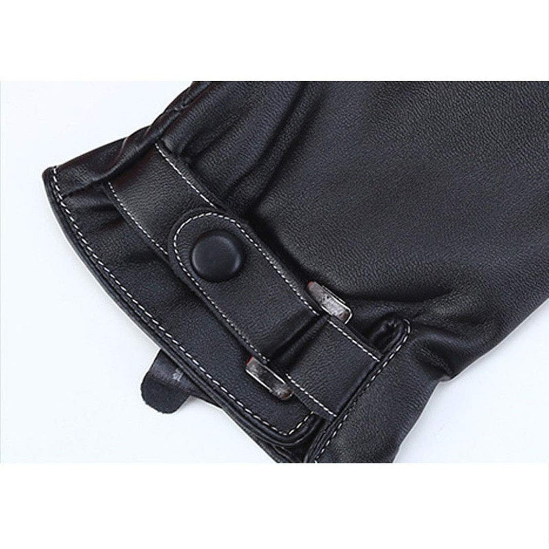 Mens Leather Gloves Touchscreen Texting Winter Warm Fleece Liner Driving Gloves