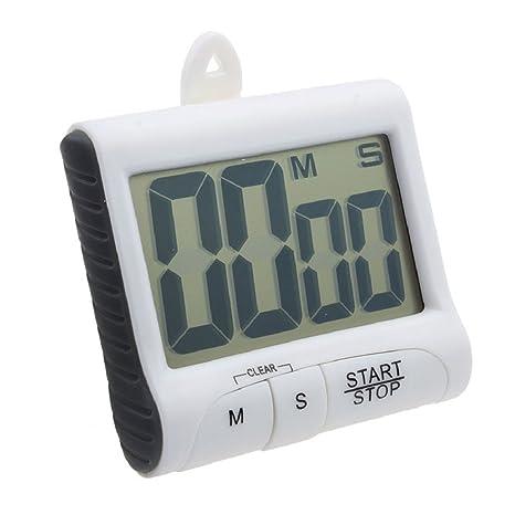 Malloom® imán digital cocina contar abajo contador Timer pitido Reloj Despertador (blanco (white