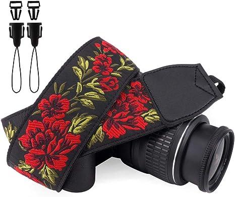 Wolven Kamera Schultergurt Vintage Stil Jacquard Kamera