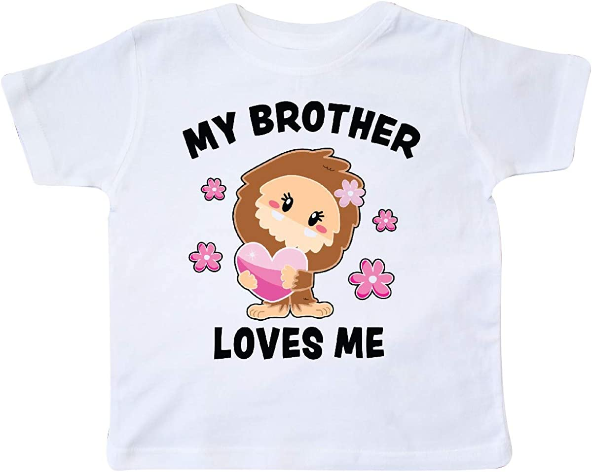 inktastic My Brother Loves Me with Bigfoot Toddler T-Shirt