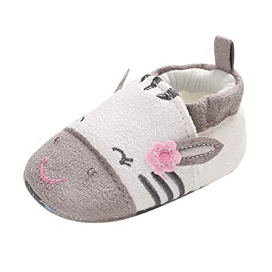 4965d875745b34 Amazon.com: Lucoo baby boots,Baby Girl Soft Booties Snow Cartoon Animal  Floor Shoes Prewalker Warm Shoes: Clothing