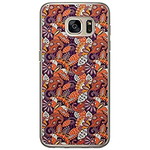 Loud Universe Samsung Galaxy S7 Colorful Paisley 1 Printed Transparent Edge Case - Multi Color