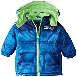 iXtreme Baby Boys\' Color Block Puffer, Royal Blue, 24 Months