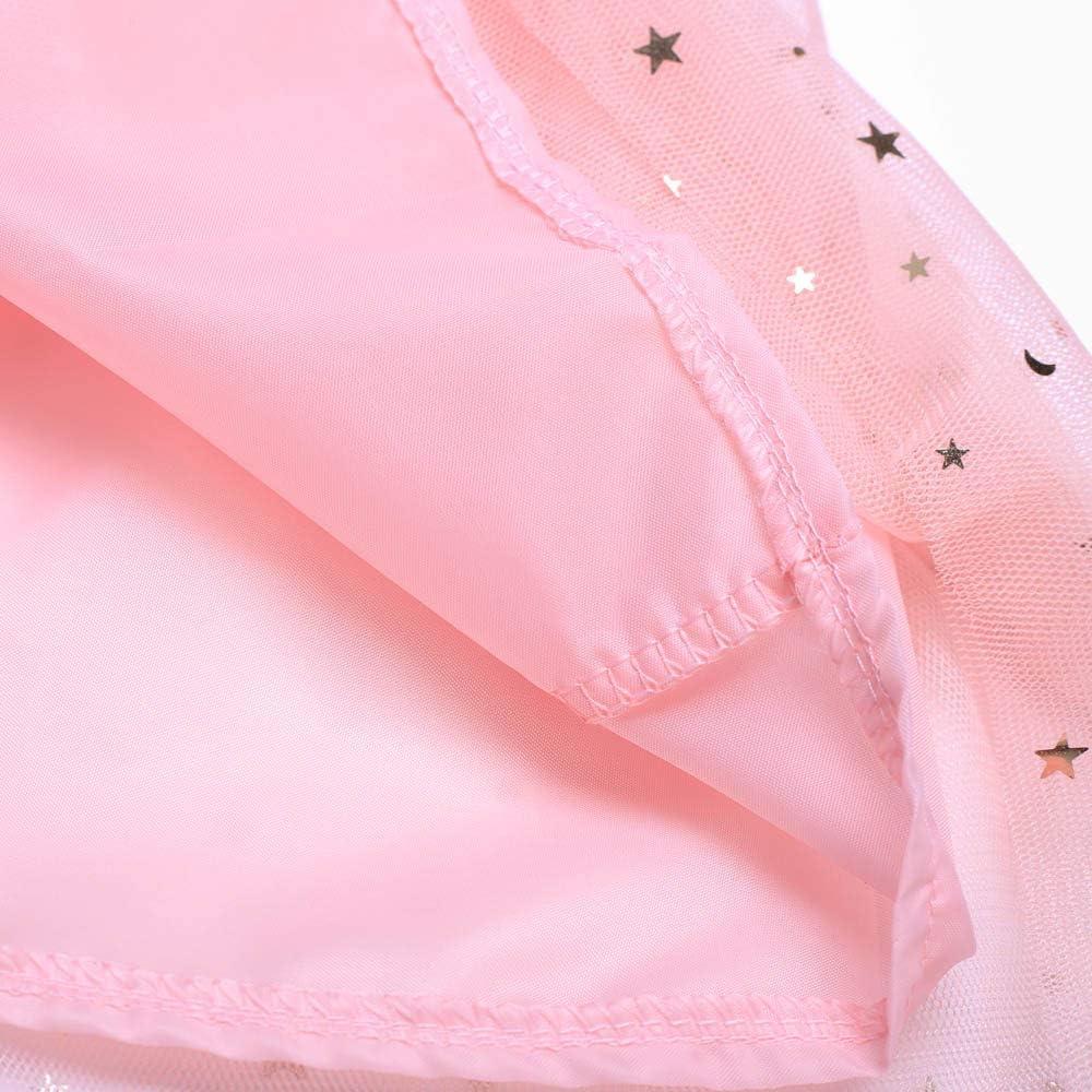 Lazzboy Ragazze tut/ù Tutu Tulle Stars Scintillante Paillettes Gonna Ballettoto Principessa Dress-up DanzaIndossare per 3-7 Anni Festa in Costume