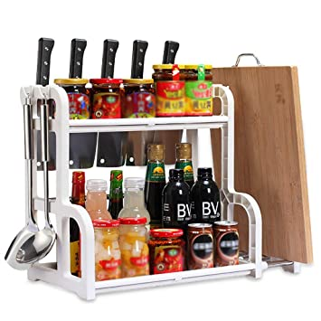 Amazon.com: Estantería de pie para especias o condimentos de ...