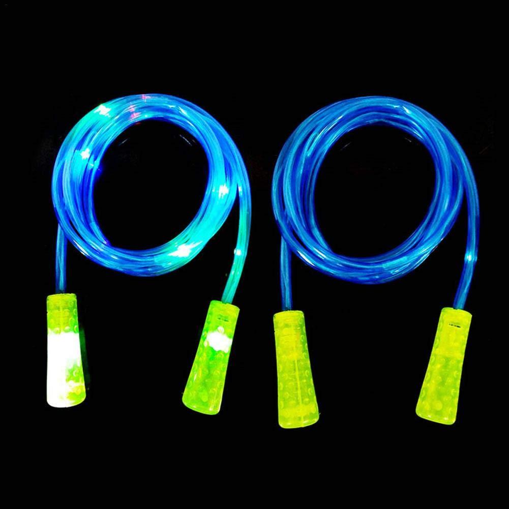 heresell Gl/ühende Springseil Kreative LED-Lichtperle Springseil Sicherheit und Umweltschutz F/ür Fitness und Kinder Spielzeug und Geschenke
