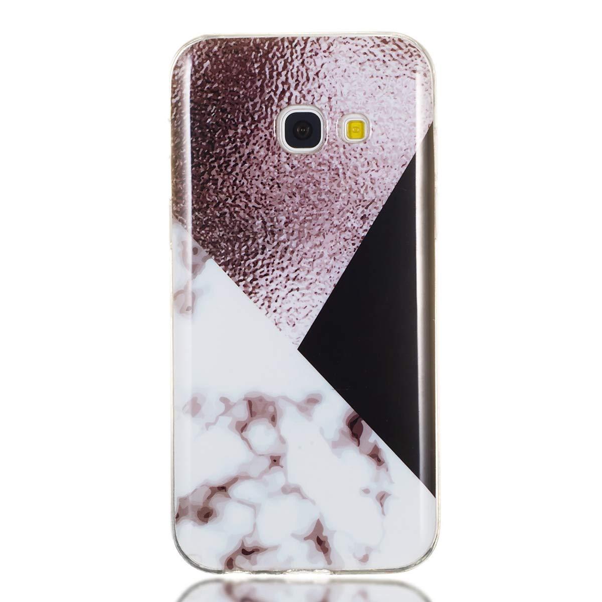 Bl/ätter Weich TPU Silikon Handyh/ülle mit IMD Technologie Schutzh/ülle Flexible D/ünn Backcover f/ür Samsung Galaxy A3 2017 A320 Misstars Marmor H/ülle f/ür Galaxy A3 2017