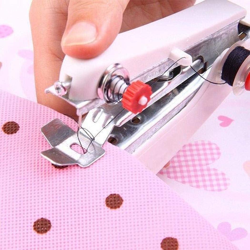 Fandazzie Mini máquina de Coser de Ropa Manual inalámbrica de Costura portátil Tela