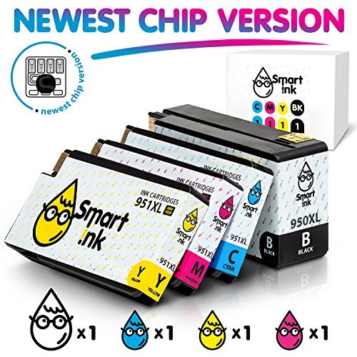 Smart Print 2300 (Smart Ink Compatible Ink Cartridge Replacement HP 951XL 950XL 951 XL 950 High Yield (Black,Cyan,Magenta,Yellow, 4 Pack Combo) Officejet Pro 8100 8600 8610 8620 8630 8640 8660 8615 8625 251DW 276DW)