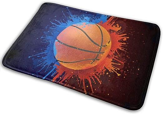 Utdestine - Felpudo (40 x 60 cm), diseño de balón de Baloncesto ...