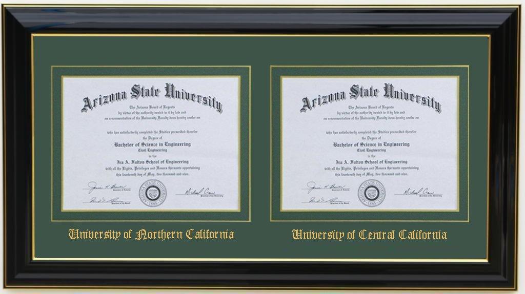 3art Double Diploma Frame 11x8.5 Black (CUSTOMIZABLE) by 3art (Image #2)