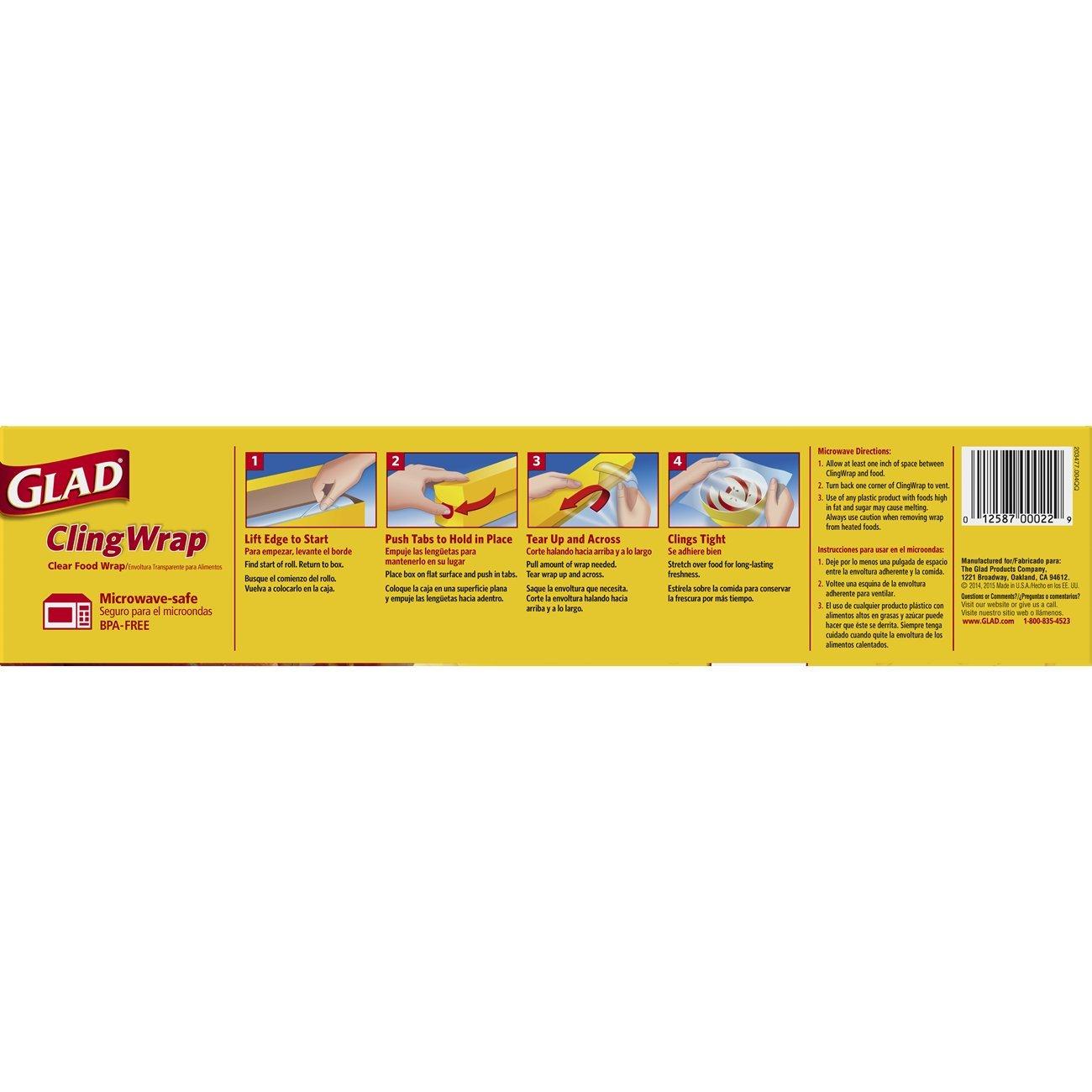 Glad Pressn Seal - Envoltorio para alimentos (plástico), Film ...