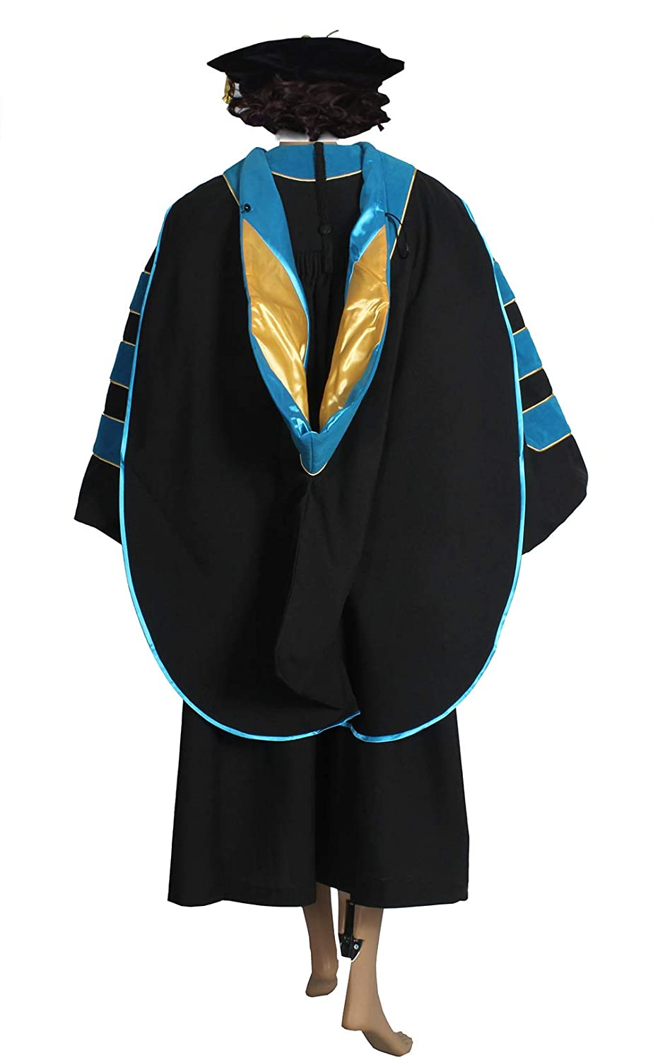 Amazon.com: HappySecret Doctoral Gown Tam and Hood with Gold Pinging ...