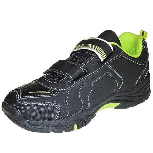 Zapatilla Deportiva con Luces y Cierre de Velcro para Niño - Modelo 6820_A, Color Negro, Talla 34: Amazon.es: Zapatos y complementos