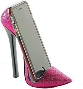 Pink Shoe Phone Holder 5.75x2.5x5.37""