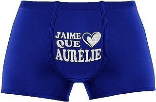 Les Boxers Pour Hommes | J'aime que Aurélie | Cadeau Anniversaire Unique et drôle. Article de nouveauté. Idée Cadeau